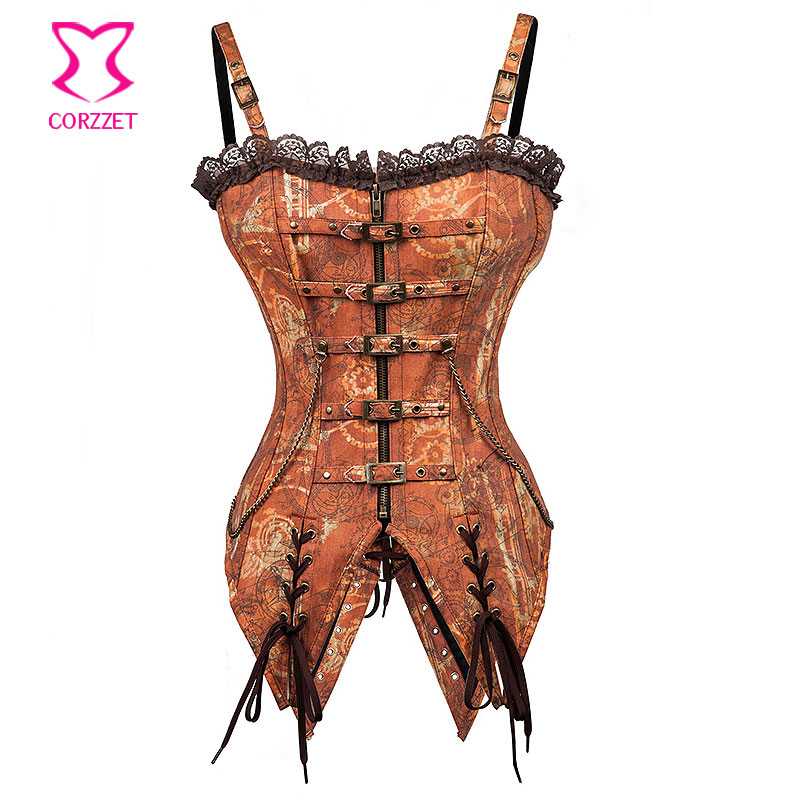 2027# Vintage Swallowtail Bustier Corset Steampunk Clothing